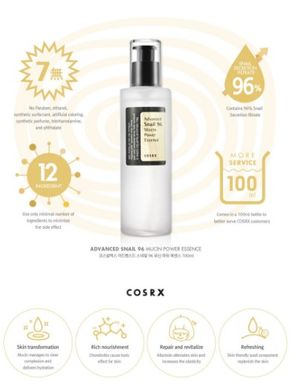 Эссенция с 96% экстракта муцина улитки COSRX Advanced Snail 96 Mucin Power Essence